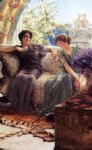 unwelcome confidence by sir lawrence alma tadema painting