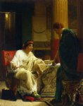 asian famous paintings - vespasian hearing from one of his generals of the taking of jerusalem by titus by sir lawrence alma tadema