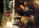 sir lawrence alma tadema welcome footsteps painting 85038