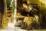 sir lawrence alma tadema welcome footsteps painting