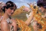 sir lawrence alma tadema when flowers return oil paintings