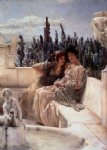 whispering noon by sir lawrence alma tadema painting