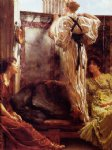 who is it by sir lawrence alma tadema painting