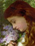 sophie anderson acrylic paintings - girl with lilacs by sophie anderson