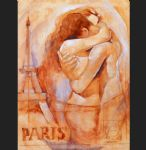 embrace in paris by talantbek chekirov painting