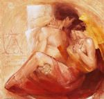 tender passion by talantbek chekirov painting