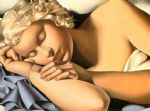 girl sleeping by tamara de lempicka acrylic paintings