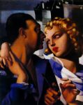 tamara de lempicka watercolor paintings - idylle by tamara de lempicka