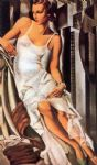 sketch of madame allan bott by tamara de lempicka acrylic paintings