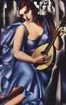 tamara de lempicka the musician in blue painting
