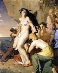 theodore chasseriau famous paintings - andromeda chained to the rock by the nereids by theodore chasseriau