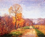 theodore clement steele art - along a country lane by theodore clement steele