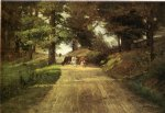 theodore clement steele art - an indiana road by theodore clement steele