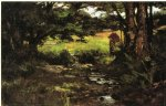 theodore clement steele art - brook in woods by theodore clement steele