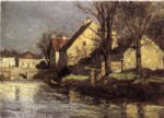 theodore clement steele art - canal schlessheim by theodore clement steele