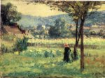 flower oil paintings - flower garden at brookville by theodore clement steele