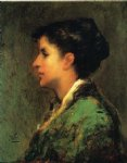 theodore clement steele famous paintings - frau gernhardt by theodore clement steele