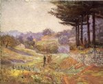 theodore clement steele acrylic paintings - hills of vernon by theodore clement steele