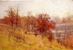 theodore clement steele original paintings - november s harmony by theodore clement steele