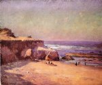 theodore clement steele original paintings - on the oregon coast by theodore clement steele