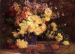 theodore clement steele still life with peonies painting 24872