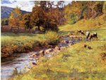 theodore clement steele acrylic paintings - tennessee scene by theodore clement steele
