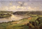 canvas prints - the ohio river from the college campus hanover by theodore clement steele