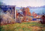 the old mills by theodore clement steele painting