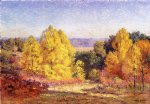 the poplars by theodore clement steele painting