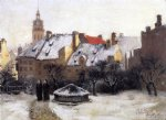 theodore clement steele acrylic paintings - winter afternoon by theodore clement steele