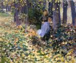 theodore robinson famous paintings - autumn sunlight by theodore robinson