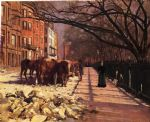 theodore robinson famous paintings - beacon street boston by theodore robinson