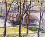 theodore robinson watercolor paintings - bridge near giverny by theodore robinson