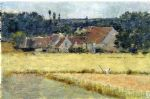 french oil paintings - french farmhouse by theodore robinson