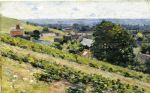 theodore robinson watercolor paintings - from the hill giverny by theodore robinson