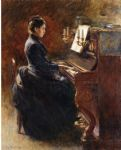 theodore robinson famous paintings - girl at piano by theodore robinson