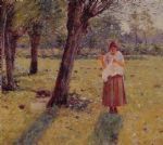 theodore robinson girl sewing painting