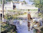 gossips by theodore robinson acrylic paintings
