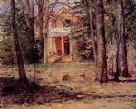 theodore robinson watercolor paintings - house in virginia by theodore robinson