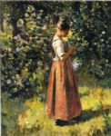 theodore robinson famous paintings - in the grove by theodore robinson