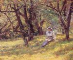 theodore robinson famous paintings - in the orchard by theodore robinson