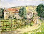theodore robinson road by the mill painting