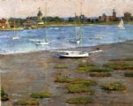 theodore robinson the anchorage cos cob painting