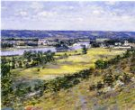 valley of the seine from giverny heights by theodore robinson painting