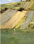 valley of the seine giverny by theodore robinson painting