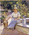 watering pots by theodore robinson painting