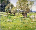 willows and wildflowers by theodore robinson painting