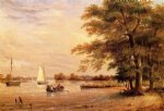 thomas birch on the shrewsbury river redbank new jersey painting
