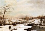 thomas birch philadelphia winter landscape painting