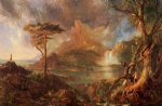thomas cole art - a wild scene by thomas cole